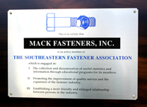 Member of the Southeastern Fastener Association