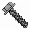 Indented Hex Washer Unslotted High-Low Hex Lock Screw