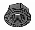 Serrated Hex Flange Lock Nut