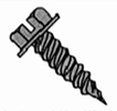 Indented Hex Washer Slotted Self Tapping Screw