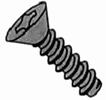 Flat Phillips B Self Tapping Screw