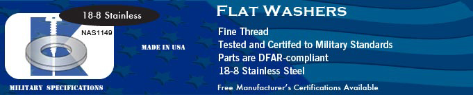 NAS1149 Flat SS Washer Washers Stock Military Fasteners